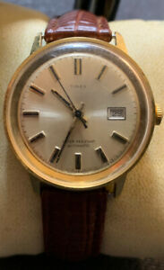Vintage Timex Marlin With Date Auto Running Good With New Strap Timex #465603272