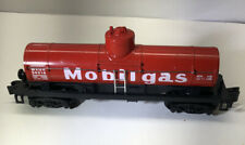 Rare Light Red AMERICAN FLYER S SCALE #24316 MOBIL OIL OPEN BOTTOM TANKER