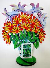 DAVID GERSTEIN ***** FLOWERS HOLZ-SKULPTUR ***** S/N LIMITIERT  !! TOP RARITÄT !