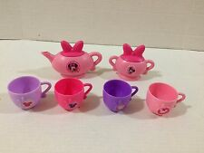 Disney Minnie Mouse Bowlicious Tea Set Teapot Cups Sugar Bowl