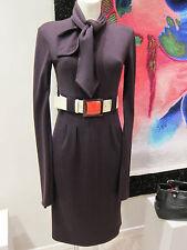 CHANEL Wollkleid lila 07A Lackgürtel Gr 36 Chanel wool dress bright belt sz 12