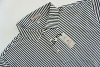 Peter Millar Summer Comfort WHITE Black Striped Mens Polo Golf Shirt Size XL