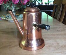 Vintage Copper Clad  Turkish Coffee Pot With Black Wooden Handle.