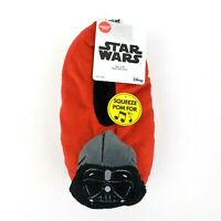 Disney Star Wars Darth Vader Red Snuggle Toes Talking Noise Boys Sz S/M Slippers