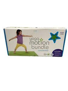 Kids Yoga Mat Bundle Namaste Kid Motion DVD Mat Water Bottle Easy to Learn NEW
