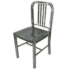 NEW EMECO BRUSHED STEEL METAL SILVER US NAVY RETRO CHAIR BISTRO BAR CAFE TOLIX