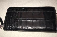 NWT $195 ETIENNE AIGNER Black Snake Embossed Daily Wallet