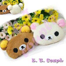2PC Rilakkuma San-X relax bear face plush couple cellphone doll keychain
