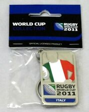 33657 RUGBY WORLD CUP 2011 ITALY SILVER JERSEY FLAG KEYRING KEY RING