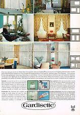 PUBLICITE  1967   GARDISSETTE  rideaux voilages ( 2 pages)