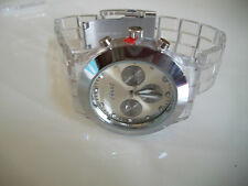 Fashion Designer Clear/Silver finish 3D Boyfriend light weight Sports Watch