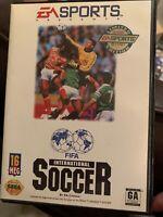 Sega Genesis FIFA International Soccer Game Complete Box Case Manual *Authentic*