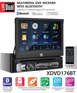 NEW DUAL XDVD176BT 1 Din CD DVD Player Receiver USB AUX Bluetooth Camera Input