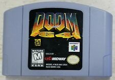 Doom 64 (Authentic) (Nintendo 64, N64, 1997) Contacts Cleaned, Tested & Working