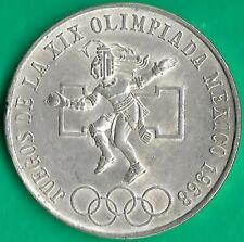 Mexico.1968. 25 Pesos .19th Summer Olympics .Silver.XF +