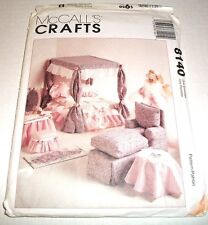 """McCalls Pattern 11 & 1/2"""" Fashion Doll Living Bed Room Kitchen Craft 8140 Uncut"""