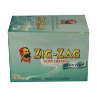 Zig Zag Filter Tips Slim Menthol Box Of 10 Bags