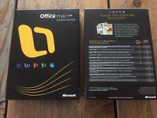 MS Office 2008 Business Edition für MAC, Retail Vollversion mit MwSt Rechnung