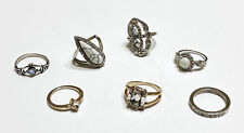 Set Of 7 Rings Fashion Party Costume Gold Silver Size Sz 7