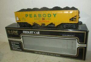 K-LINE 'O' DIE-CAST 623-8013 PEABODY HOPPER CAR W/ LOAD