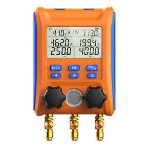 Elitech LMG-10 Digital Manifold Gauge HVAC Intelligent Pressure Gauge Kit