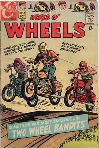 World of Wheels Vol 1 No. 22 Oct 1968 Motorcycle Comics Charlton Comic Book Race