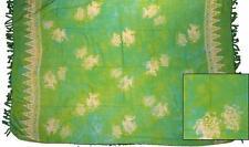 Sarong/Pareo/Wrap - Green with fish batik - handmade in Bali - Hary Dary