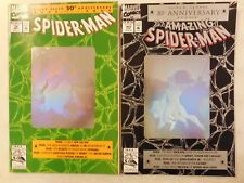 2x 1992 AMAZING SPIDER-MAN # 365 & # 26 HOLOGRAM Covers w/ VENOM CARNAGE Poster
