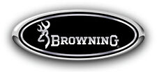"Ford F150 2008-2014 ""BROWNING"" Black/Chrome Custom Overlay Emblem Decal 3PC Kit"
