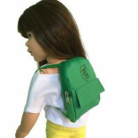Green Doll Backpack for 18 inch Doll - Green Doll Backpack Fits 18 Inch Dolls