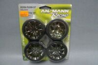 1:10 Ansmann 211000006 Reifen-Felgen-Set Sunn Smoke Chrome - Wheel & Tyre Set