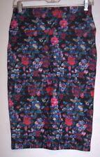 Lularoe Skirt XS Cassie Pencil Boho Hippie Floral High Waist Stretch Knit