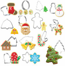 14 Christmas Cookie metal Biscuit cutters Santa snowflake reindeer Gingerbread