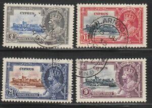 Cyprus  1935   Sc # 136-39   Silver Jubilee   Used   (4012-2)
