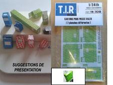 2 PLANCHES DE CARTONS D'EMBALLAGE POUR PIECES V_LEO, ACCESSOIRES DIORAMA 1/24