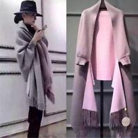 Neue Kaschmirwolle Cardigan Mantel Cape Damen Langarmjacke Quaste 2019 elegant
