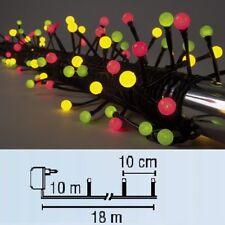 LED Party-Perlen-Lichterkette 80er grün, gelb, rot Best Season 472-70