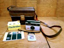 Vintage Kodal Instamatic 124 Camera + Case Manual GE Flash Bulbs & New Batteries