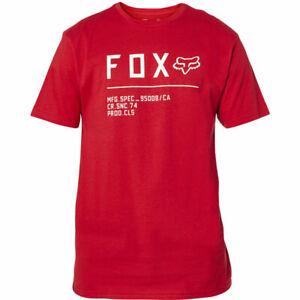 2021 Fox Non Stop SS Premium Tee - Red/White, Medium