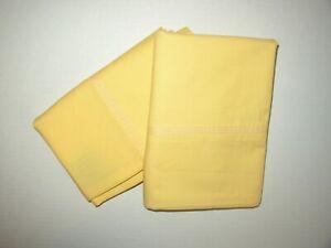 Lauren Ralph Lauren Standard Pillowcase Set Yellow 100% Cotton EXC COND!!