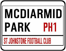 ST JOHNSTONE F.C. STREET SIGN ON MOUSE MAT / PAD. MCDIARMID PARK