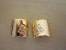 Vintage Givency Logo Gold Tone Clip On Earrings