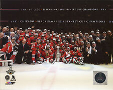 "Chicago Blackhawks 2015 Stanley Cup Champions Team Celebration Picture 8"" x 10"""