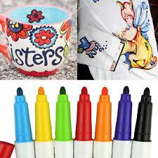7 Colors Pens Set Ceramic Painting Marker Mug Cup&Shirt Graffiti Painter Drawing