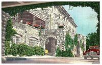 Vintage Postcard Main Entrance Buckhill Inn Poconos Pennsylvania Posted 1953