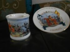 Collector Plate and Tankard  Robert The Bruce Battle