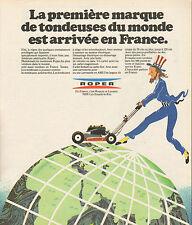 Publicité 1974  ROPER  tondeuse à gazon jardin pelouse