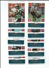 McDonalds 1986 Saints Blue tab partial set 18 of 24 cards, NM nice tabs