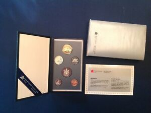 ~ 1993 Canada Specimen 6 Coin Mint Set in Display Case with COA
