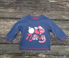 Boys Old Navy Long Sleeve Christmas Shirt Size 6-12 Months